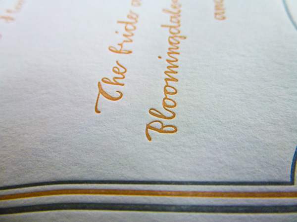 apricot ink letterpress printed at Boxcar Press