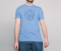 Letterpress T-shirt: Heidelberg Windmillon person