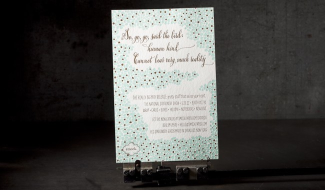 National Stationery Show letterpress invitations