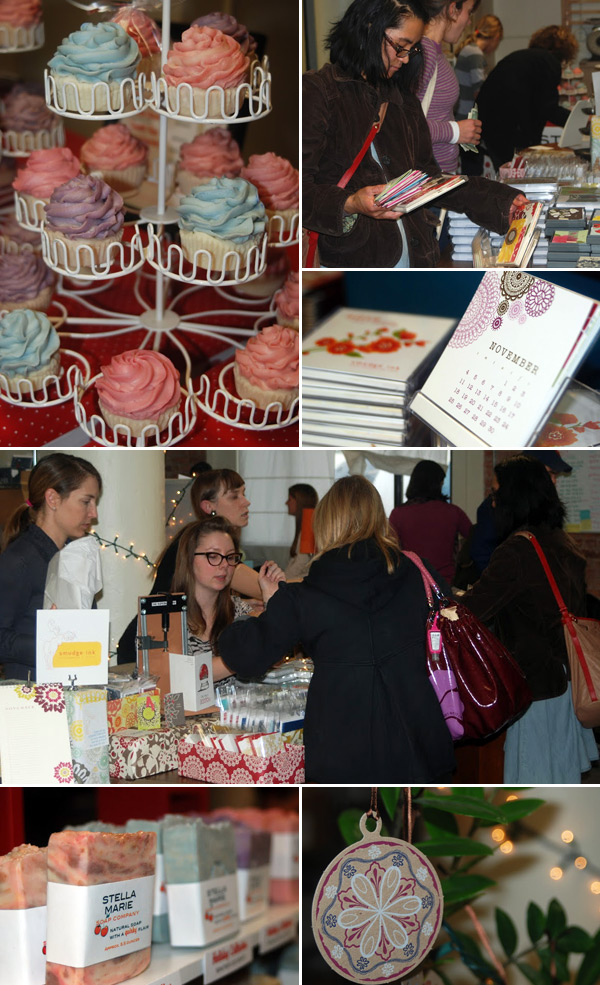 Smudge Ink held a holiday shopping event to benefit the Greater Boston Food Bank