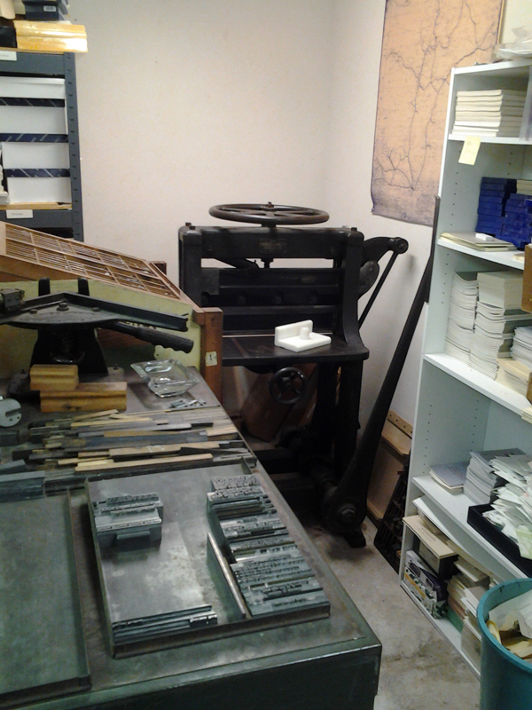 A look at the Sargent Brothers Printers & Typographers workspace