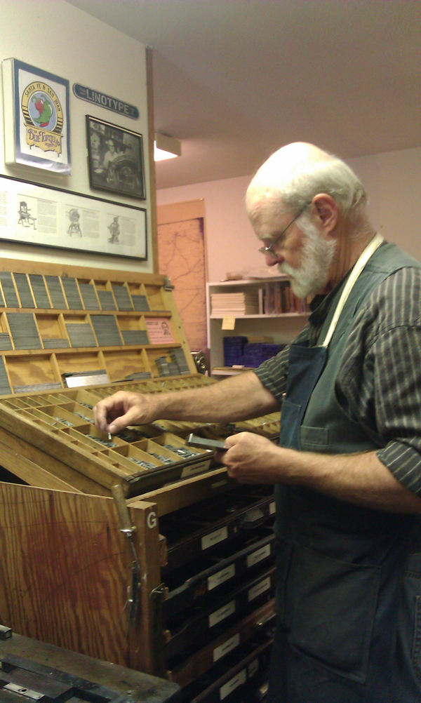 A look inside the letterpress shop known as Sargent Brothers Printers & Typographers