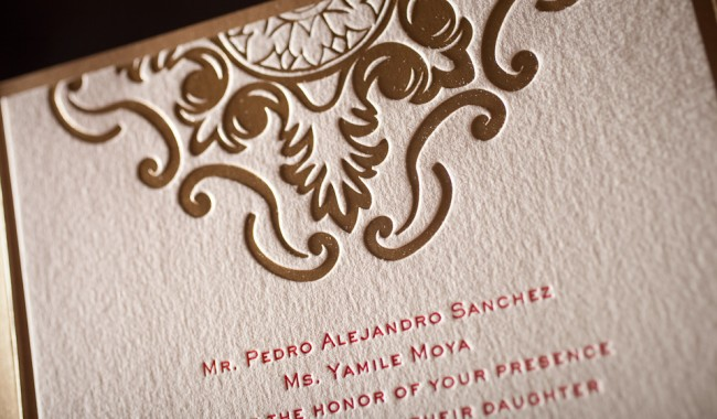 foil stamped wedding invitation no 12371 boxcar press