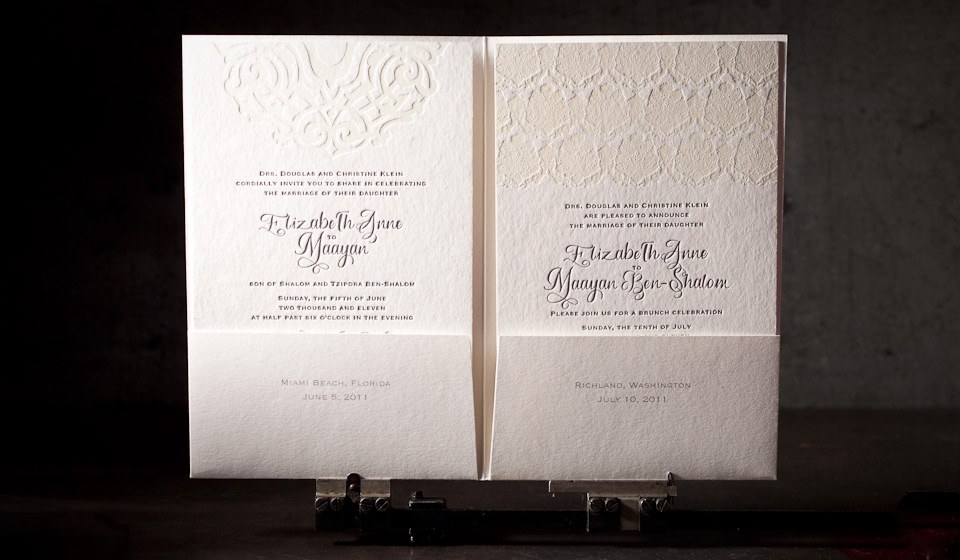 calligraphy wedding invitation, no. 8455 | boxcar press, Wedding invitations