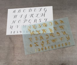L Letterpress printing: Script Alphabet