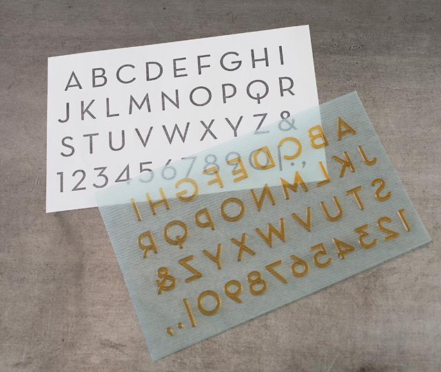 L Letterpress printing: Modern Alphabet