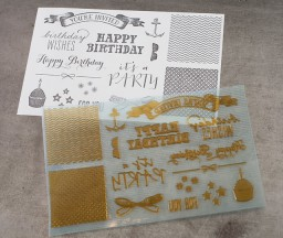 L Letterpress printing: Birthday Designs