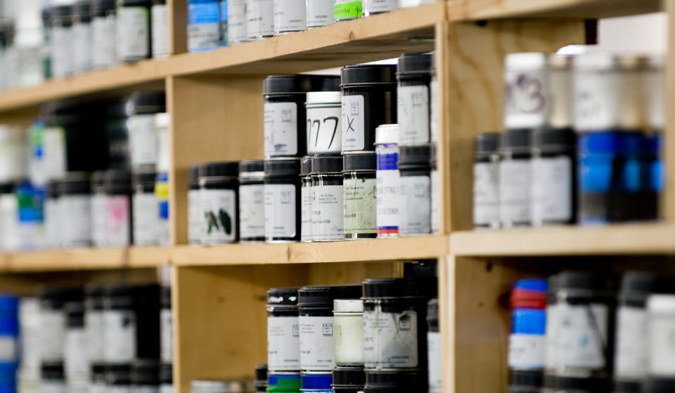 image of ink cans