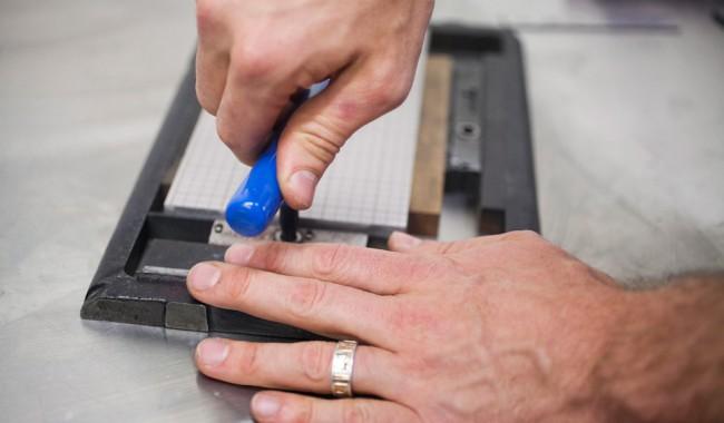 photo of Locking Platen Press Quoin Key