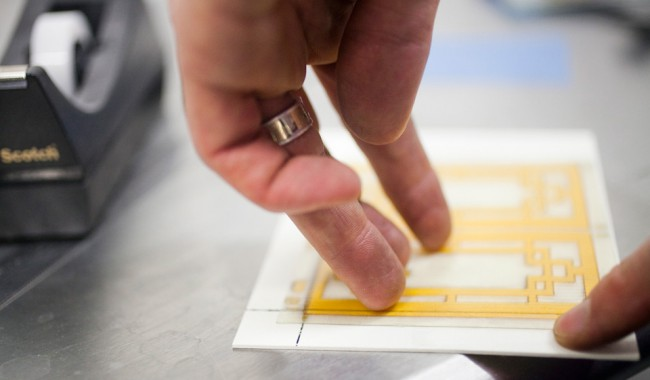photo of Measuring for Frisket
