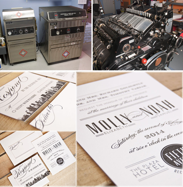 Letterpress invitations created by Spark Letterpress
