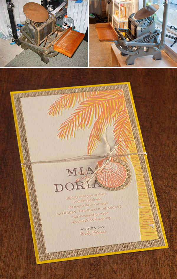 Letterpress invitations by Spark Letterpress