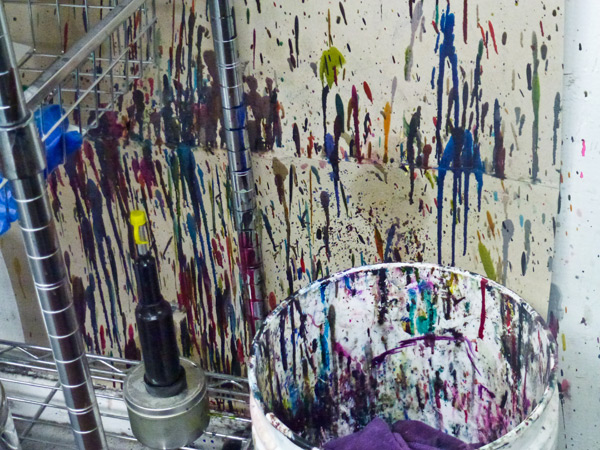 Where inks are mixed at Boxcar Press