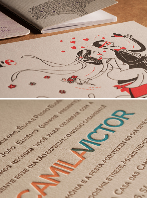 Carimbo Press is a letterpress print shop in Brazil