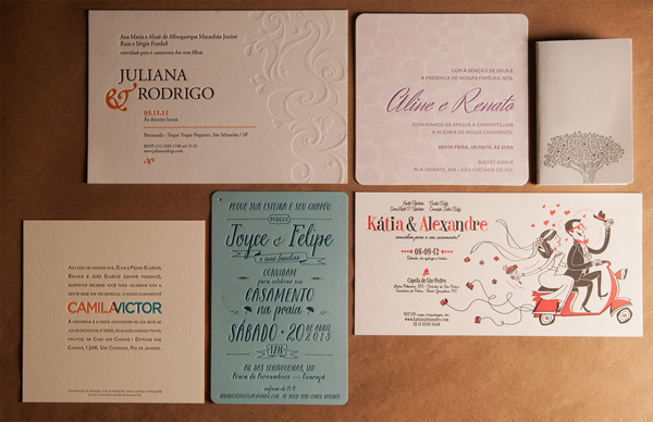 Carimbo Press is a letterpress printer based in Brazil