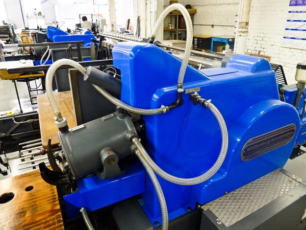 Heidelberg's mighty SBB cylinder press at Boxcar Press