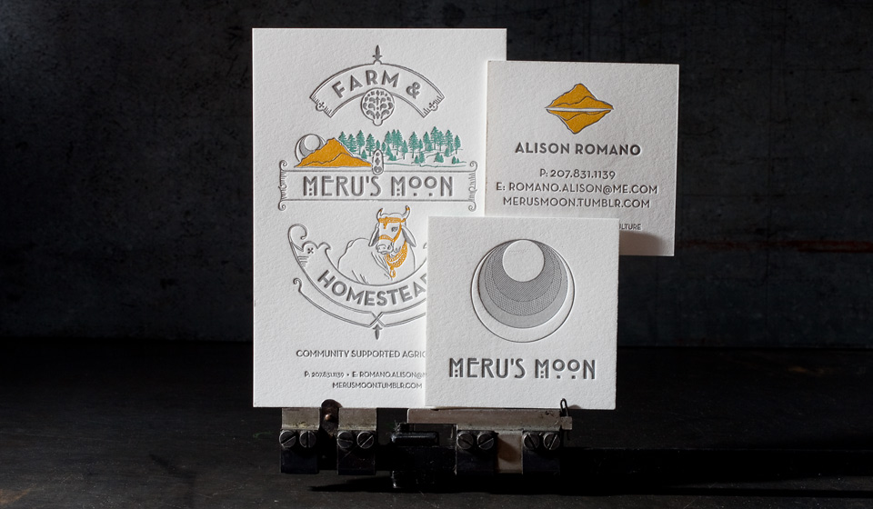 Letterpress printed business cards from Boxcar Press