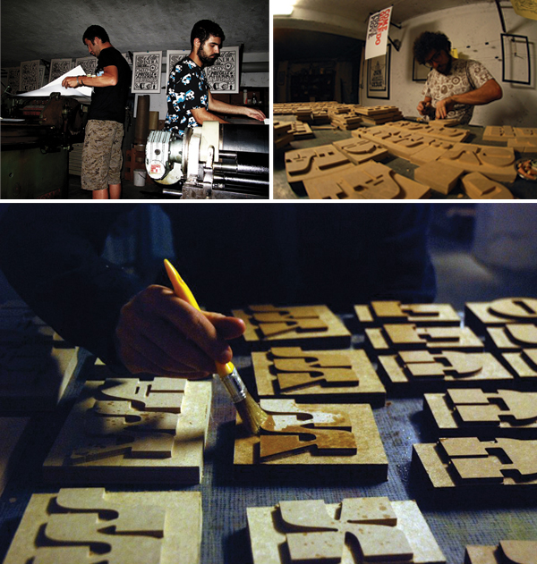 & Type is a letterpress print shop based in Varese, Italy