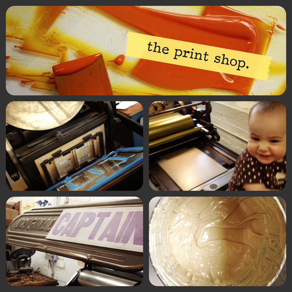 Albertine Press and Shelley Barandes' Kesley press and printing helpers