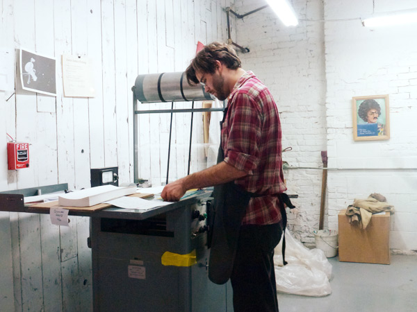 Boxcar Press printing on a Vandercook