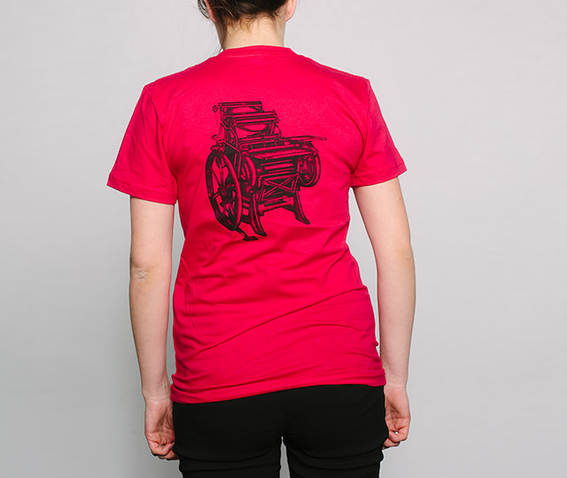 New Letterpress T-Shirts: Chandler and Price Press womens back