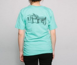 New Letterpress T-Shirt: Vandercook Press womens back