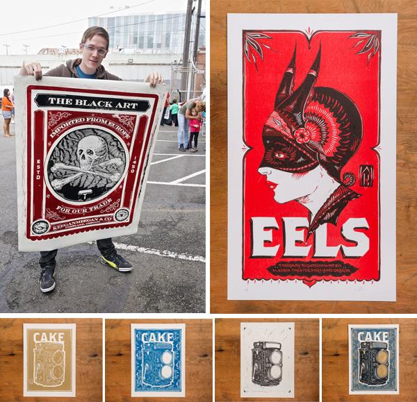 Letterpress ink color prints for a poster printed at Keeganmeegan & Co.