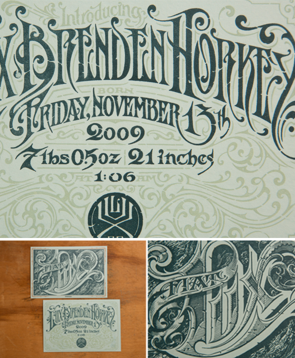 Extraordinary attention to detail is not spared while viewing the letterpress posters of Keeganmeegan & Co.