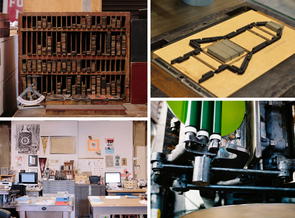 Type drawers, Heidelberg Windmills and the press shop, oh my!