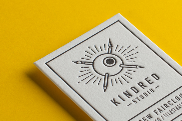 Interview with australian letterpress printers at the hungry workshop eye popping letterpress business card printed by the hungry workshop reheart Image collections