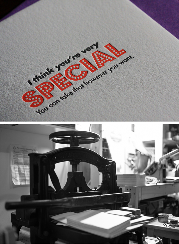 Fun and bold letterpress cards printed by Canadian letterpress shop, Port Paper Co.