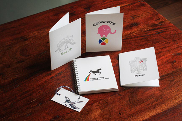 Colorful and fun letterpress printed cards from Port Paper Co. and printed by Travis Deglow.
