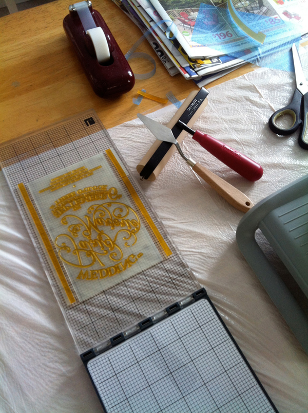 L Letterpress at-home printing tips using inking roller bearer strips from Boxcar Press.