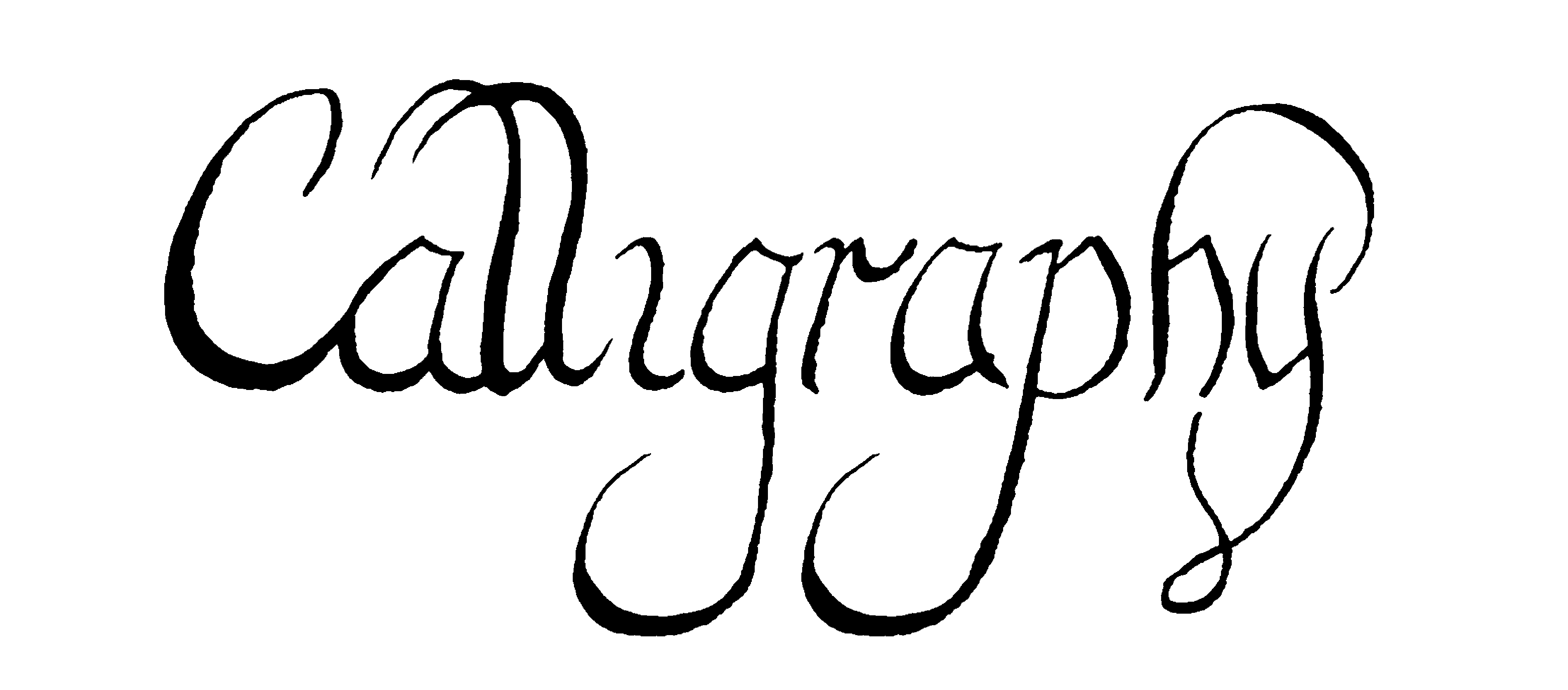 Calligraphy-Bitmap-file-sample