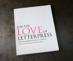 For the Love of Letterpress Book