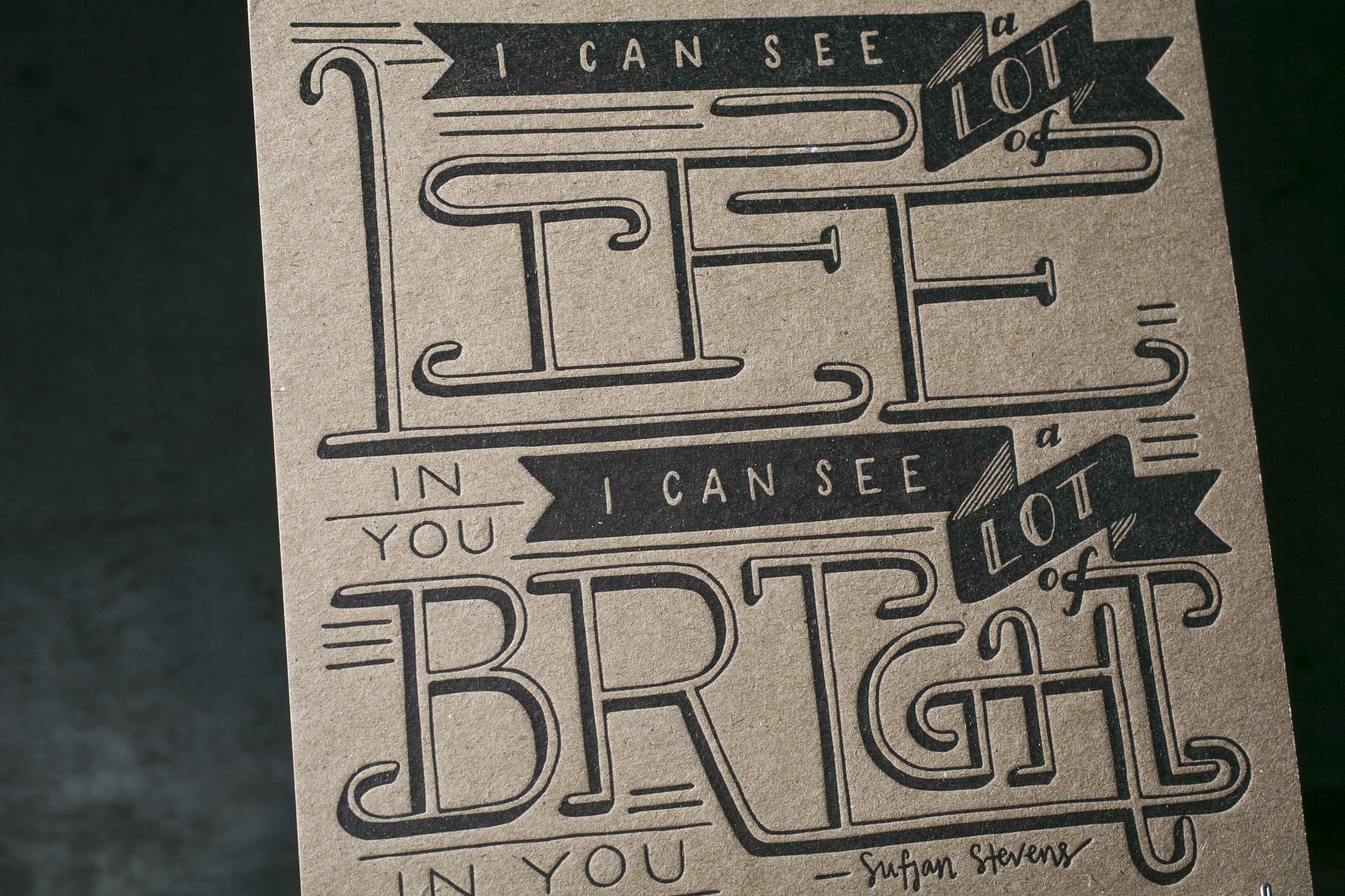 Letterpress art print from Rabbit Wife Studio - letterpress printed by Boxcar Press