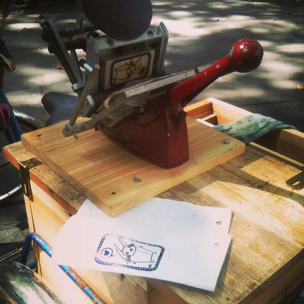 Letterpress printing by The Press Cycle