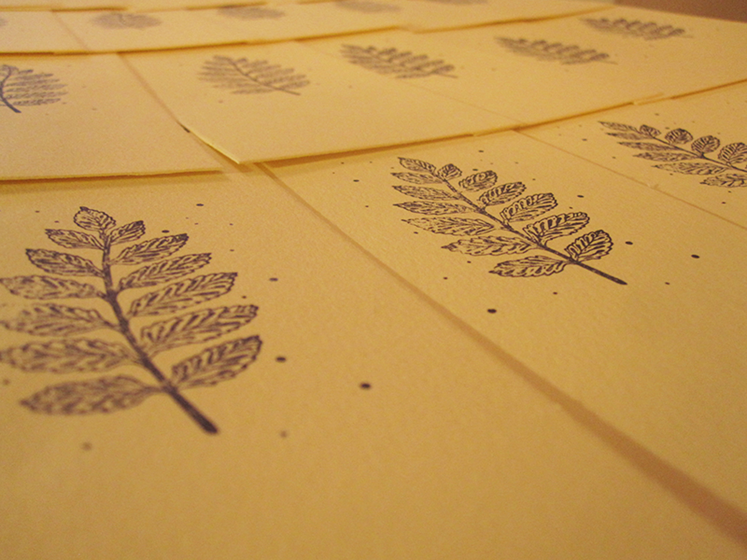 Letterpress printing samples from The Press Cycle