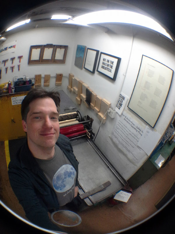 Ted Ollier at Bow & Arrow Studio on the Harvard Campus