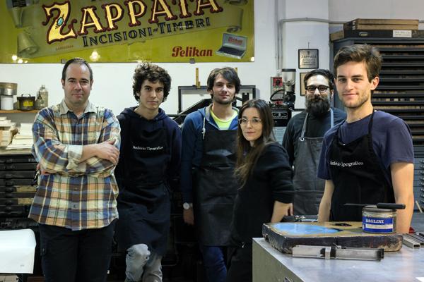 Emanuele Mensa, Davide Tomatis, Davide Eucalipto, Anna Follo, and Nello Russo - Gabriele Fumero of Archivio Tipografico