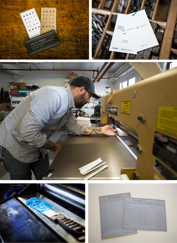 Nicholas Hurd of Wasp Print shop in Brooklyn