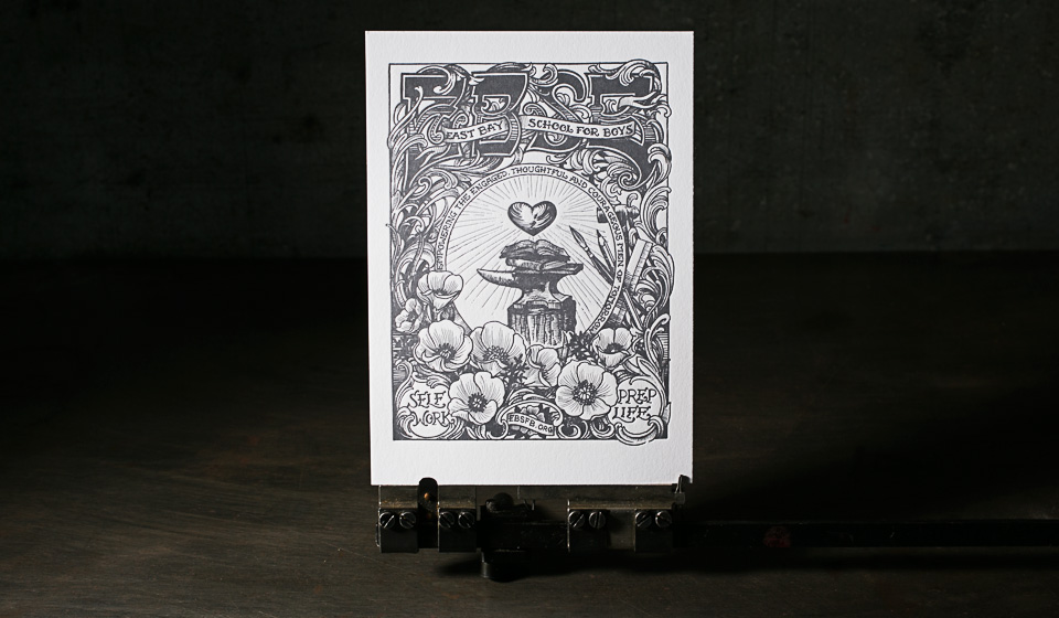 Letterpress art print by Boxcar Press