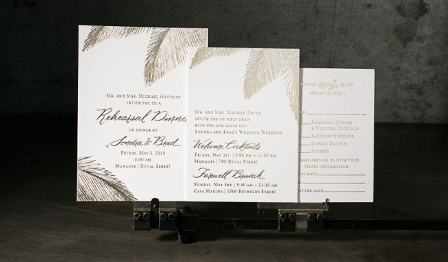 Custom calligraphy weddding invitations