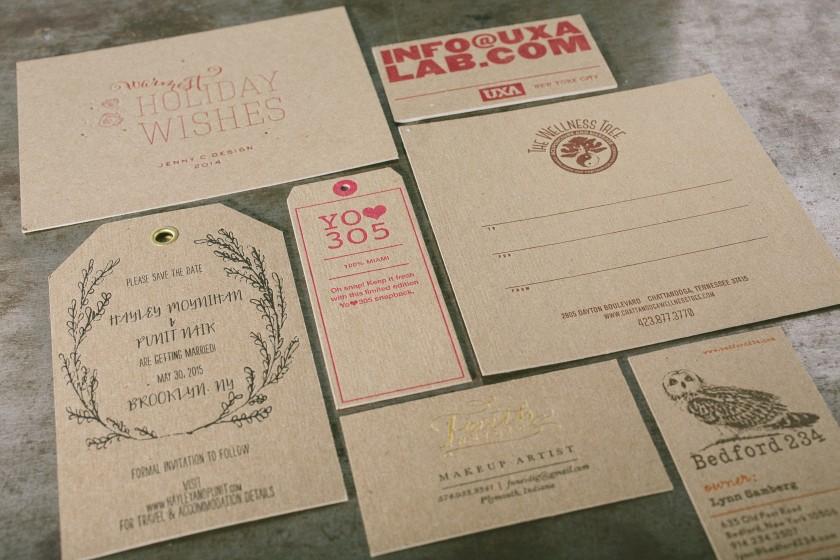 design tips for letterpress printing on chipboard