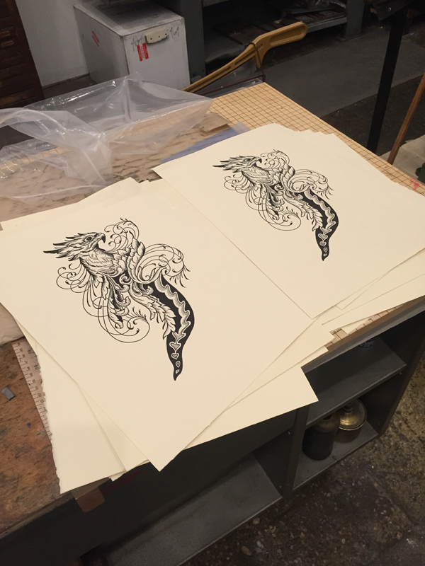 Final pulled prints of the ever talented  John Reardon.