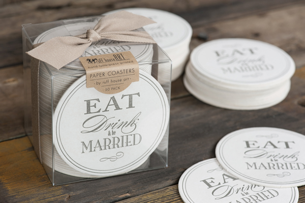 Letterpress coasters by Ruff House Art