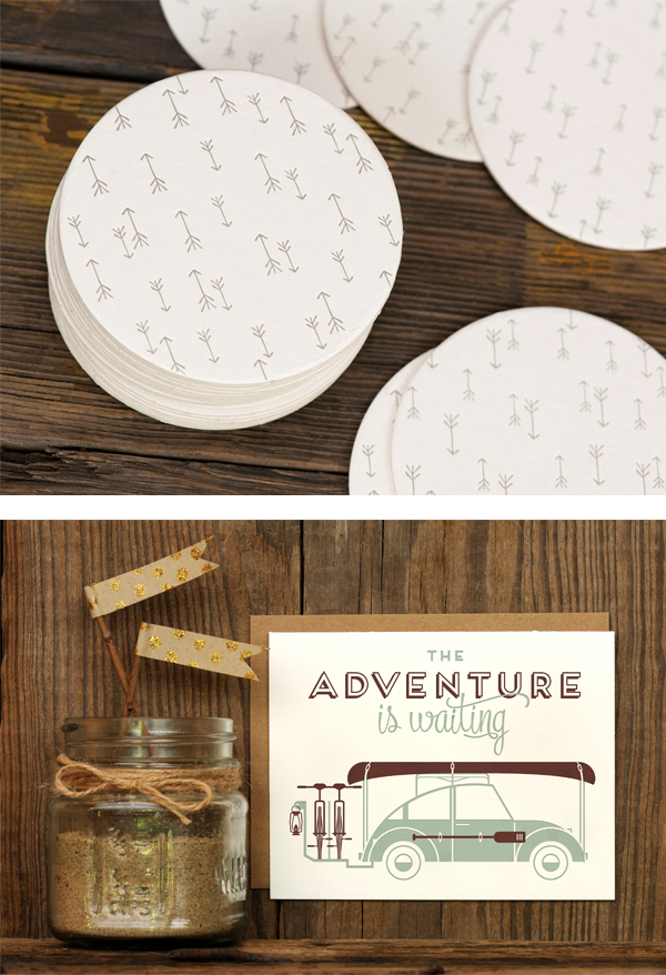 Letterpress coasters & cards by Ruff House Art