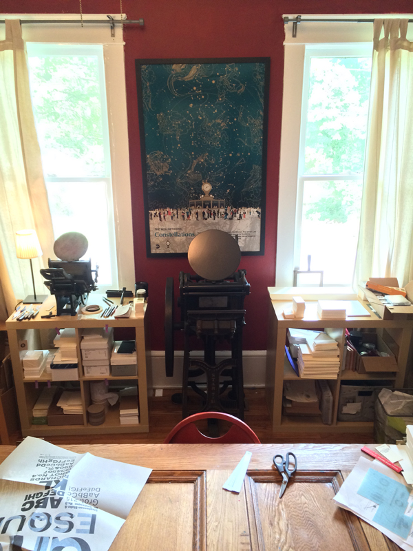 The at-home studio of Able Bodied Press