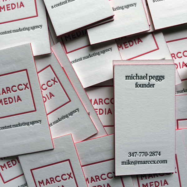 Letterpress Business cards by  Able Bodied Press
