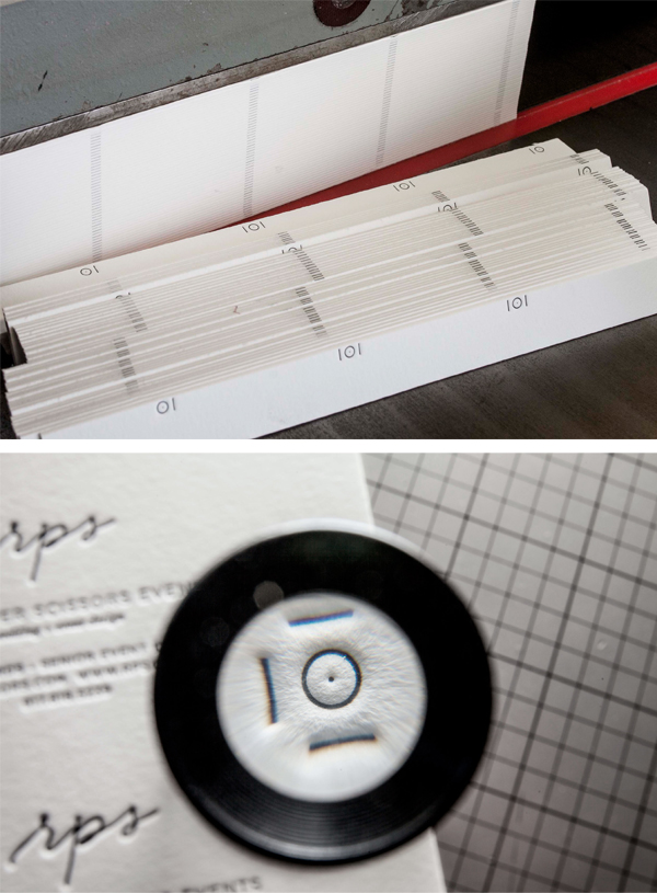 Beautifully printed details of business cards by Daniel Heffernan of Clove St. Press.